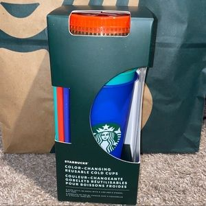 NEW 5 Starbucks color changing cold cups set